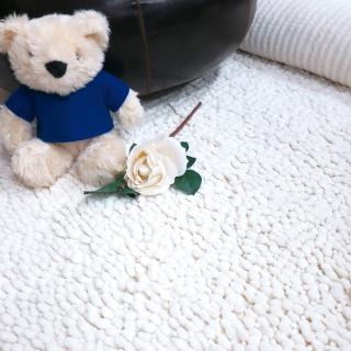 【山德力】吸水防滑長毛地毯-雪狐140x200cm(地毯 加寬 長毛 毛毯 溫暖)  山德力