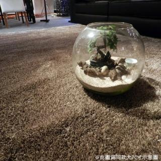 【山德力】歐密地毯 - 金 70x140cm(地毯 多色 溫暖 素色 長毛) 推薦  山德力