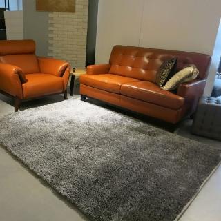 【山德力】匹茲堡地毯 - 星雲灰 160x230cm(地毯 白 灰 閃耀 客廳 溫暖)  山德力