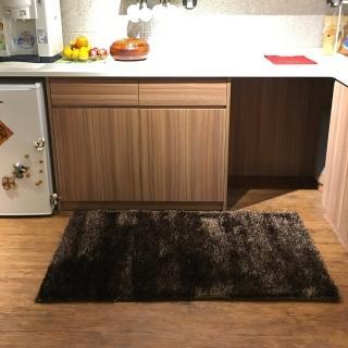 【山德力】歐密地毯 - 黑金 70x140cm(地毯 多色 溫暖 素色 長毛)  山德力