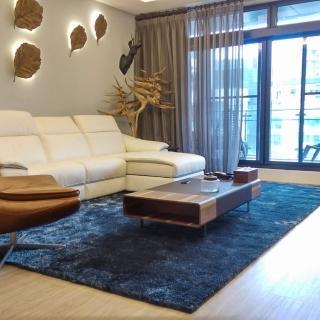 【山德力】歐密地毯 - 藍 160x230cm(地毯 長毛 毯子 毛毯 溫暖)好評推薦  山德力