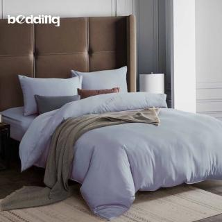 【BEDDING】3M專利+頂級天絲-素色系列-加大雙人薄床包+雙人兩用被套四件組-多款任選優惠推薦  BEDDING