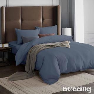 【BEDDING】3M專利+頂級天絲-素色系列-特大雙人薄床包+雙人兩用被套四件組-瓦灰好評推薦  BEDDING