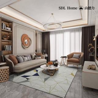 【山德力】幾何線條暈染設計地毯- 歐羅巴 240X340CM(氣派 現代 經典 客廳 起居室 書房)評價推薦  山德力