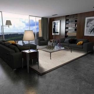 【山德力】幾何線條羊毛地毯- 朝旭 160X230CM(羊毛 氣派 現代 經典 客廳 起居室 書房)  山德力