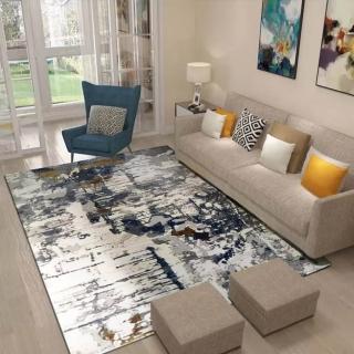 【山德力】暈染斑駁現代藝術地毯-卡斯 240X340CM(氣派 現代 經典 客廳 起居室 書房)評價推薦  山德力