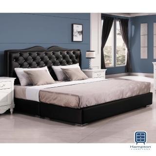 【Hampton 漢妮】朱蒂斯5尺黑色雙人床組(一般地區免運費/雙人床組/床底座/床頭板)好評推薦  Hampton 漢妮