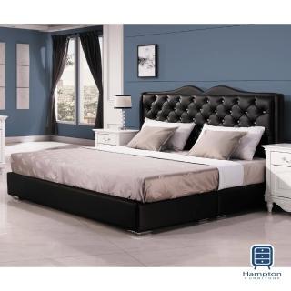 【Hampton 漢妮】朱蒂斯6尺黑色雙人床組(一般地區免運費/雙人床組/床底板/床頭片)  Hampton 漢妮