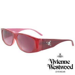 【Vivienne Westwood】亮眼水鑽土星款光學眼鏡(粉 VW594_05)折扣推薦  Vivienne Westwood