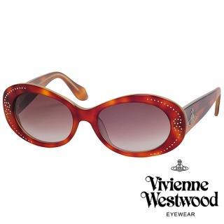 【Vivienne Westwood】英倫水鑽土星基本款光學眼鏡(琥珀 VW624_02)  Vivienne Westwood