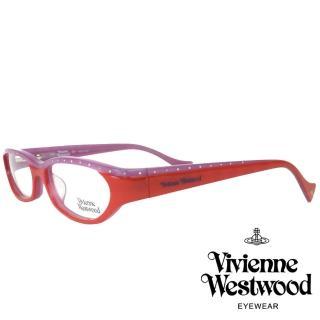【Vivienne Westwood】英倫龐克搖滾撞色款光學眼鏡(紅/紫 VW133_01)  Vivienne Westwood