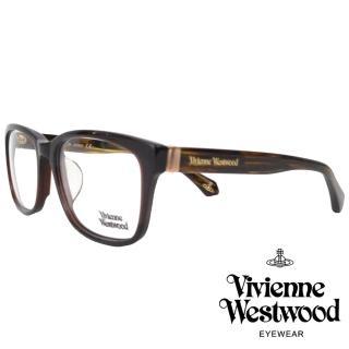 【Vivienne Westwood】經典品牌文字款光學眼鏡(咖啡/琥珀 VW355V_02)  Vivienne Westwood