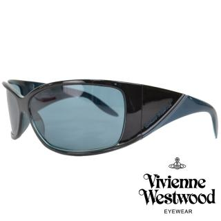 【Vivienne Westwood】英倫摩登復古款太陽眼鏡(黑/孔雀綠 VW520_05)  Vivienne Westwood
