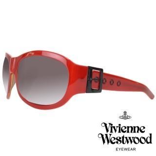 【Vivienne Westwood】時尚名媛扣環款太陽眼鏡(黑/紅 VW537_03)  Vivienne Westwood