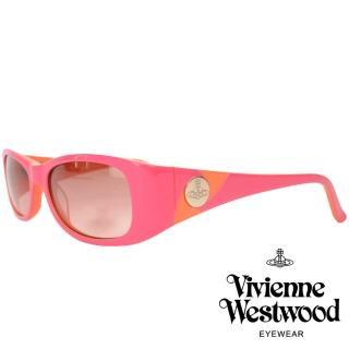 【Vivienne Westwood】英倫土星撞色款太陽眼鏡(粉/橘 VW558_03)  Vivienne Westwood