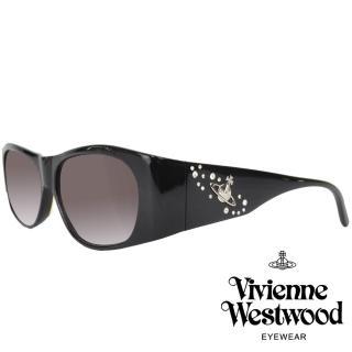 【Vivienne Westwood】漂浮土星水鑽款太陽眼鏡(黑 VW594_06) 推薦  Vivienne Westwood