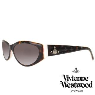 【Vivienne Westwood】經典壓紋土星款太陽眼鏡(琥珀/白 VW622_01)  Vivienne Westwood