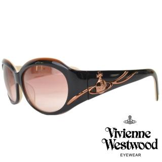 【Vivienne Westwood】流線條土星款太陽眼鏡(黑/米白 VW625_02)品牌優惠  Vivienne Westwood