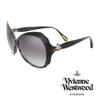 【Vivienne Westwood】經典氣質土星款太陽眼鏡(黑 VW827_03)  Vivienne Westwood
