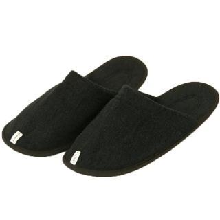 【今治織上】今治認證 毛巾拖鞋(黑色)  今治織上