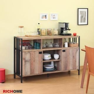 【RICHOME】漢克雙門工業風餐櫃/收納櫃/置物櫃/廚房櫃(超寬敞設計)  RICHOME