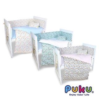 【PUKU 藍色企鵝】LoDo嬰兒舒棉寢具六件組(台灣製水色/粉色)折扣推薦  PUKU 藍色企鵝
