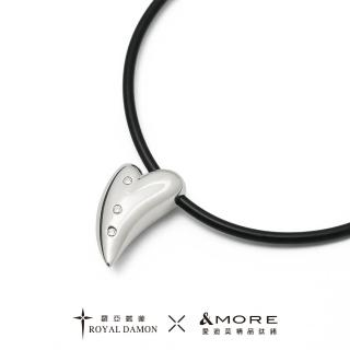 【&MORE 愛迪莫】x 羅亞戴蒙 鈦鍺項鍊 + 健康鍺錠鋼墜 魅力(小)  &MORE 愛迪莫