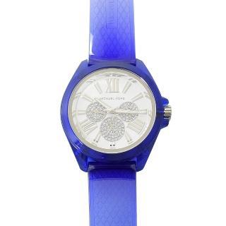 【Michael Kors】專櫃款 Wren 三眼水鑽計時型時尚手錶(藍)  Michael Kors