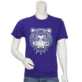 【KENZO】經典老虎標誌印花短袖圓領衫(紫5TS050-4YA-80)  KENZO
