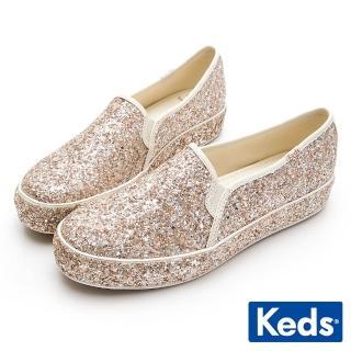 【Keds】x Kate Spade 聯名款 TRIPLE 婚禮璀璨厚底休閒便鞋(玫瑰金) 推薦  Keds
