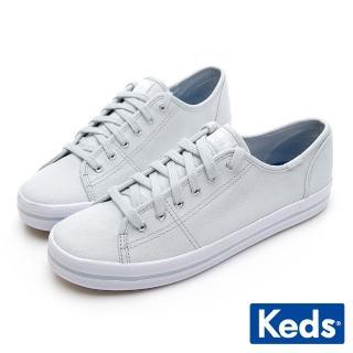 【Keds】KICKSTART 清新少女帆布綁帶休閒鞋(淺藍)  Keds