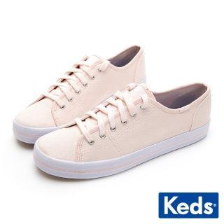【Keds】KICKSTART 清新少女帆布綁帶休閒鞋(粉紅)折扣推薦  Keds