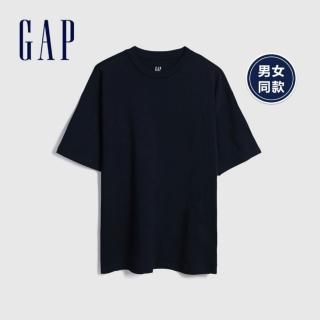 【GAP】男裝 棉質舒適圓領短袖T恤(590048-經典新海軍藍)  GAP