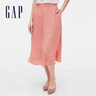 【GAP】女裝 清爽條紋設計休閒半身裙(593894-粉色碎花) 推薦  GAP