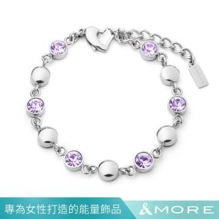 【&MORE 愛迪莫】健康手鍊 GALAXY shining 星河 璀璨紫(鍺 遠紅外線 負離子.禮盒包裝)  &MORE 愛迪莫