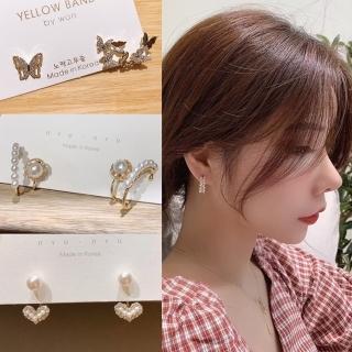 【HaNA 梨花】韓國925銀針華麗氛圍洛可可風格珍珠鋯石耳環好評推薦  HaNA 梨花