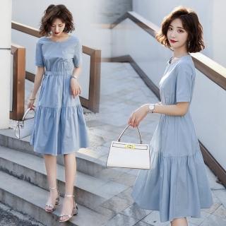 【SZ】清新簡約英倫風時尚腰帶修身洋裝S-XL(共二色)  SZ