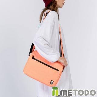 【METODO 防盜包】ST Crossbag不怕割斜背郵差包(TSL-804清新橘/RFID/耐磨/出遊旅行/日常休閒/防潑水/側背)  ATUNAS 歐都納