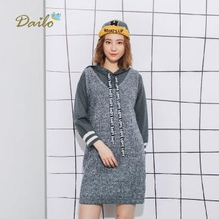 【Dailo】混色織感無袖長版-針織衫(三色/版型適中) 推薦  Dailo