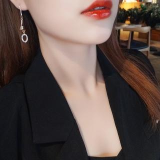【HaNA 梨花】韓國華麗跳躍LOVE字母鑽飾長耳環品牌優惠  HaNA 梨花