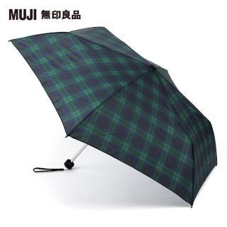 【MUJI 無印良品】聚酯纖維晴雨兩用輕量折傘(軍黑色)好評推薦  MUJI 無印良品