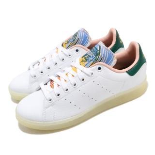 【adidas 愛迪達】休閒鞋 Stan Smith 復古 低筒 女鞋 愛迪達 三葉草 史密斯 老人頭 穿搭 白 粉(FZ3631)評價推薦  adidas 愛迪達