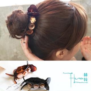 【HERA 赫拉】氣質盤髮髮飾水晶抓夾/馬尾夾-2色(抓夾 隨手 方便 簡單)  HERA 赫拉