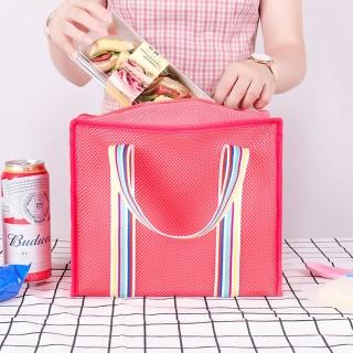 【E.City】復古大容量保溫保冷三明治野餐包(內袋有水杯固定袋及隔袋)評價推薦  E.City