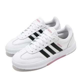 【adidas 愛迪達】休閒鞋 Gradas 復古 低筒 女鞋 愛迪達 三線 基本款 皮革 球鞋穿搭 白 黑(FW9366)品牌優惠  adidas 愛迪達