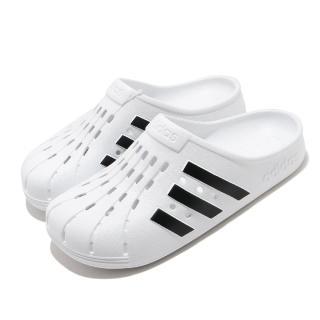 【adidas 愛迪達】拖鞋 Adilette Clog 休閒 男女鞋 愛迪達 三線 夏日 快速排水 海邊 白 黑(FY8970)折扣推薦  adidas 愛迪達