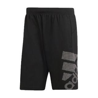 【adidas 愛迪達】短褲 Sport Graphic Shorts 男款 愛迪達 4KRFT 膝上 運動休閒 黑 白(DU0934)  adidas 愛迪達