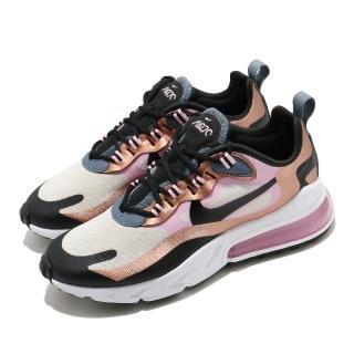 【NIKE 耐吉】休閒鞋 Air Max 270 React 女鞋 氣墊 舒適 避震 簡約 球鞋 穿搭 粉 金(CT1833-100)  NIKE 耐吉