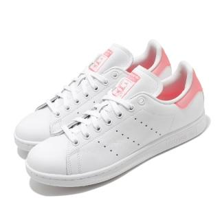 【adidas 愛迪達】休閒鞋 Stan Smith 復古 低筒 女鞋 愛迪達 三葉草 史密斯 老人頭 穿搭 白 粉(FU9649)  adidas 愛迪達