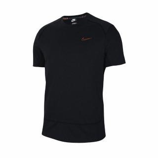【NIKE 耐吉】T恤 Training Shirts 吸濕排汗 男款 健身 重訓 運動 圓領 快乾 黑 橘(CU5008-010)優惠推薦  NIKE 耐吉